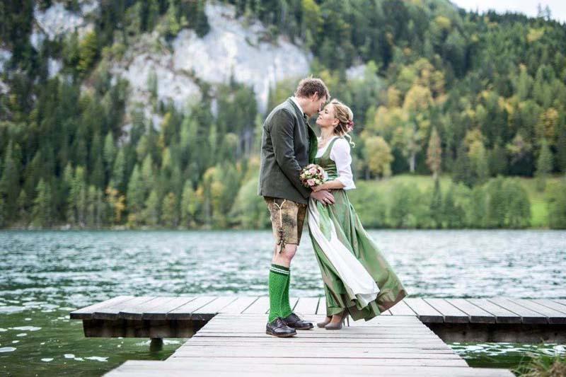 Hochzeitsfotos Trachtenhochzeit Gleinkersee